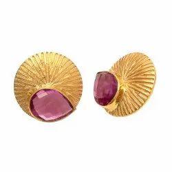 Pink Tourmaline Hydro Stud Earring