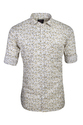 Full Sleeves White Printed Cotton Shirt, Size: S, M & L