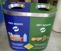 Stainless Steel 2 in 1 Recycle Bin