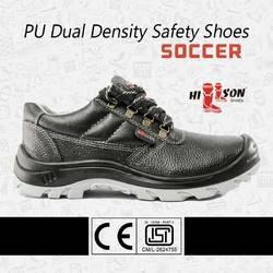 Black ISI Soccer High Ankle Safety Shoes, Model: Hillson, Sole Type: PU