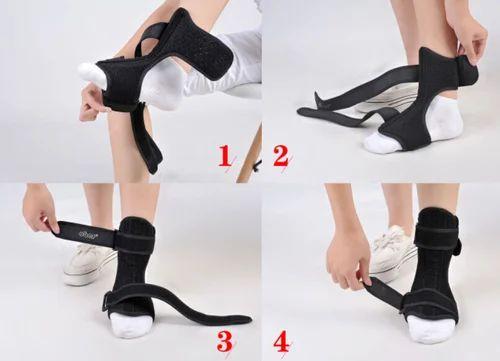 dcfceeaf36a BOLD Black Complete Medical Drop Foot Brace, Ankle Foot Orthosis, Model:  AB1118,