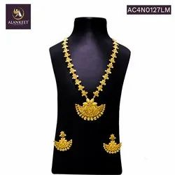 Alankeet Indian Wedding Party Wear Gold Plated Bridal Ethnic Necklace Earrings Set Jewelry for Women