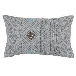 Contemporary Printed Embroidered Cotton Pillow Cover