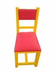Assam Kenwood Furniture Yellow,Pink Restaurant Wooden Chair, Finish: Polished, Seating Capacity: Single