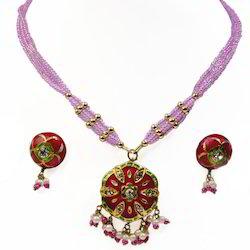 Designer Meenakari Lacquer Necklace Set 187