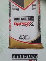 Duraguard rapidx OPC 43 & OPC 53 Cement, Packaging Type: PP Sack Bag