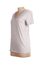Ladies Solid Gray V- Neck Top
