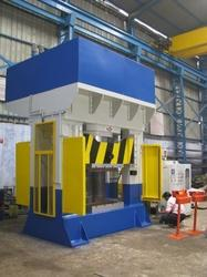 Santec Cast Steel and Iron 8- Point Gib Guided Automatic Hydraulic Press, Type : H-Frame