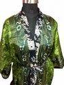Beautiful Silk Sari Kimono Night Wear, Bathroom Wear Women Dress