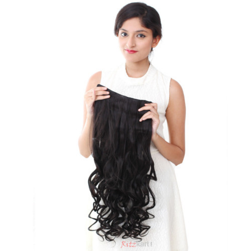 Ritzkart Black Womens Half High Quality Synthetic Hair Extension c3ce9de384