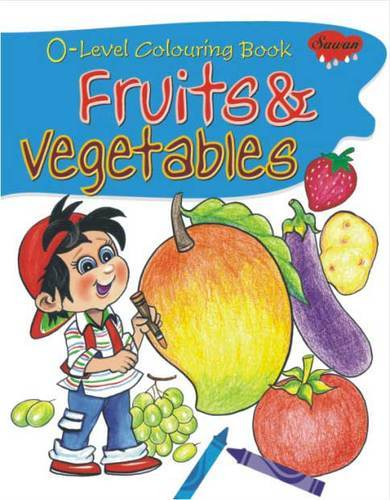 0 Level Colouring Book Fruits Vegetables