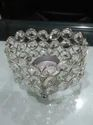 Nickel Crystal Heart Shape Candle T Light Holder From Royal De Wajidsons