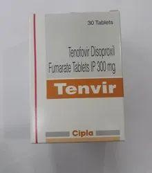 Tenvir Tablet, Tenofovir Disoproxil Fumarate (300mg)