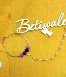Gold Betiwale Ladkewale Designer Brooches
