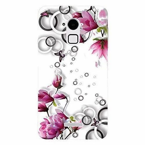 Plastic White Floral Printed Mobile Back Cover, Size: 5.5 Inch