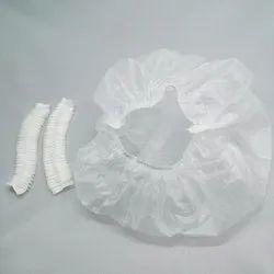 Milky White Basic Compostable Shower Cap