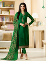 Designer Embroidered Straight Churidar Suit