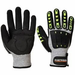 TPR Safety Gloves Anti Impact Gloves, Model Name/Number: A722 for Industrial
