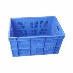 Blue Rectangular Plastic Vegetable Crate