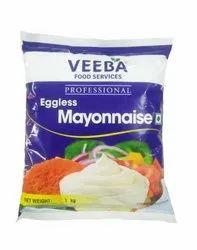 White EGGLESS MAYONNAISE, Weight: 1 Kilo, Packaging Type: Kilogram