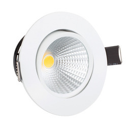 Ceramic Dimmable LED Spot Light, Shape: Round