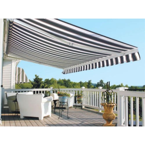 online store 505f0 b10f5 Black And White Rectangular Manual Retractable Awning, Rs 160 /square feet  | ID: 20853356888