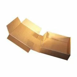 Square Brown Die Cut Corrugated Plain Box, For Packaging