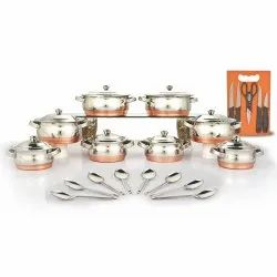 24pc Copper Bottom Cookware set