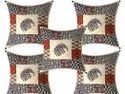 Elephant Print Cotton Cushion Cover