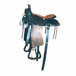 Black Polished Horse Saddle