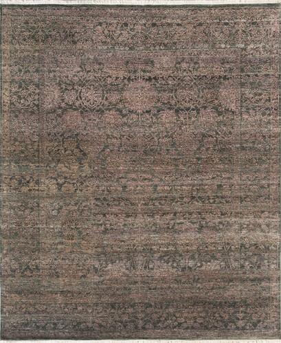Udai Exports Blue Purple Wool Bamboo Silk Rugs