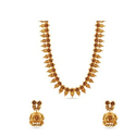 Maalyaa Floral Patterned Antique Kundan Long Necklace Set