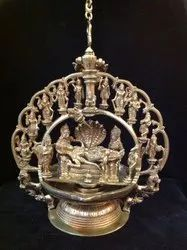 Brass Dashavatara lamp