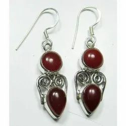 925 Sterling Silver Cornolian High Fashion Earrings