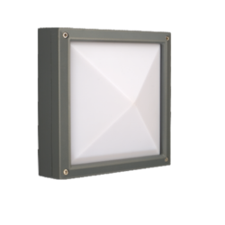 15W Warm White LED Outdoor Square Wall Light