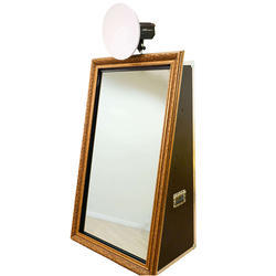 Animated Black Big Selfie Booth Magic Mirror
