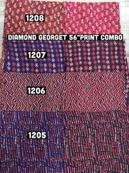 Diamond Georgette Print Fabric