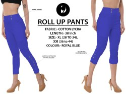 Blue Roll Up Pants