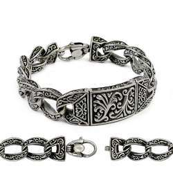 Mother Of Pearl Gemstone Silver Bracelet