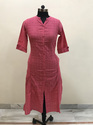 Lavanya Ready Embroidery design- pink checks embroidery kurti