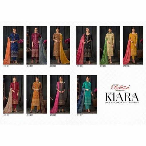 eaa55997c7 Belliza Kiara Vol 2 Pure Jam Silk Dress Materials at Rs 650 /pack ...