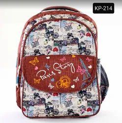 Printed Red Kids School Bag