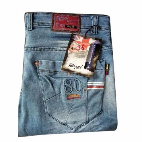 Blue Men Silky Cotton Jeans