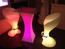 LED Bar Table and Stool
