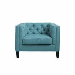 Blue Wooden Sofa Chair