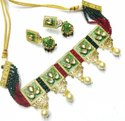 Mint Meena Choker Set