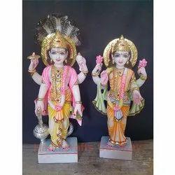 Marble Laxmi Vishnu God Statues