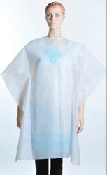 non woven White Disposable Hair Cutting Apron, Size: Large, for salon