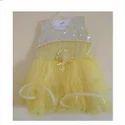 Yellow Plain Fancy Party Wear Frock Om615