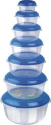 Round Plastic Food Container  7 pc Set